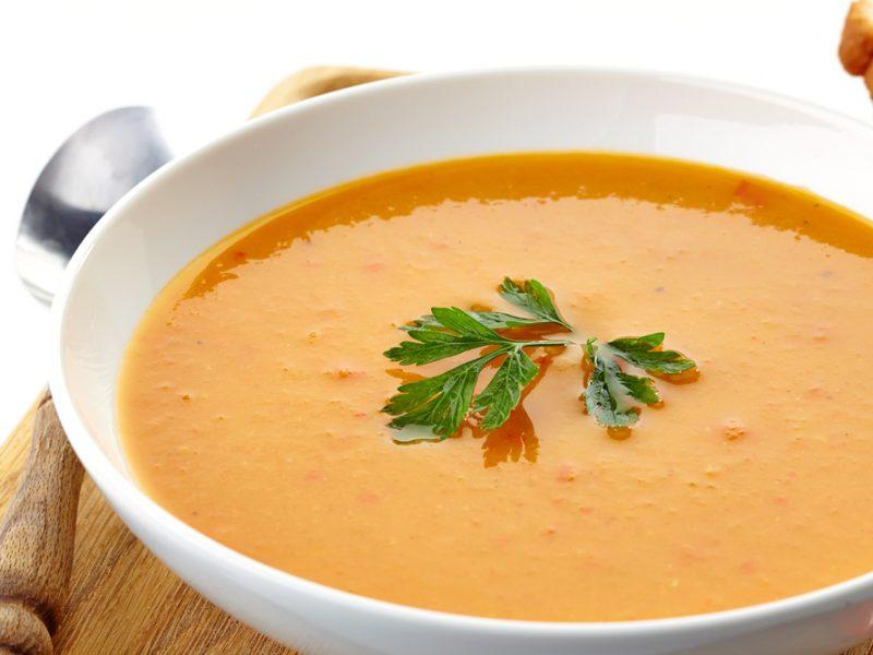 Soupe de carottes parfumée au curry