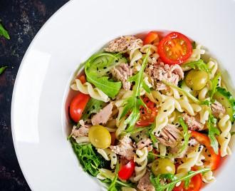 Salade thon et pâtes hyperprotéiné (idéal pour musculation et régime fitness)
