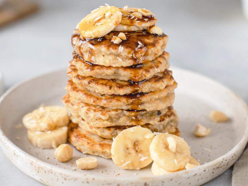 Pancakes hyperprotéinés aux flocons d'avoine (Recette sèche musculation)